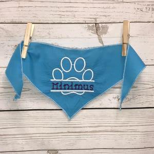 Dog bandana, Personalized bandana, monogrammed dog bandana, puppy paws bandana, dog accessories, dog gift, embroidered dog bandana, pet, dog