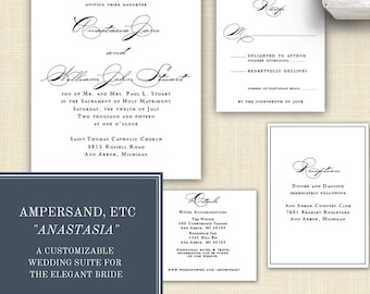 Anastasia Formal Wedding Invitation Suite