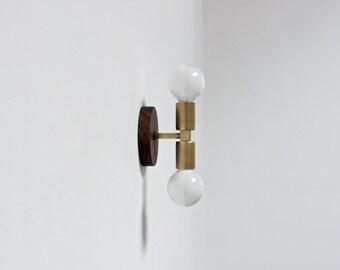 brass sconce, mid century light, wall lamp, bathroom light, industrial lighting