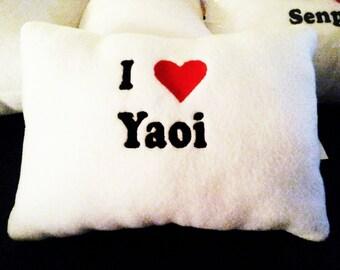 I Heart / Yaoi / Pillow / Anime / Otaku / Travel / Throw / Boys / Love / Geek / Nerd / Geekery