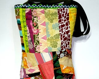 Tote, patchwork market bag, patchwork tote, market bag, boho quilted tote, market tote, shopping bag, shopper tote, large tote, scrappy tote