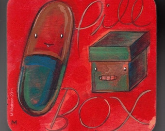 Pill/Box Two-Tone Original Painting