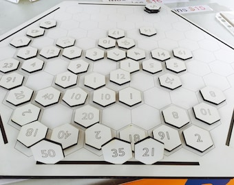 VersaHex Game Board and Literacy and Numeracy Games for Kids