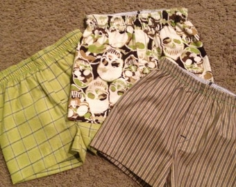 Custom Boys Boxers Size 3/4 faux fly (3 pack) - Ready to Ship