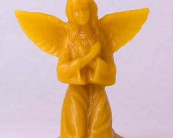 Beeswax Praying Angel Candles 2-pack