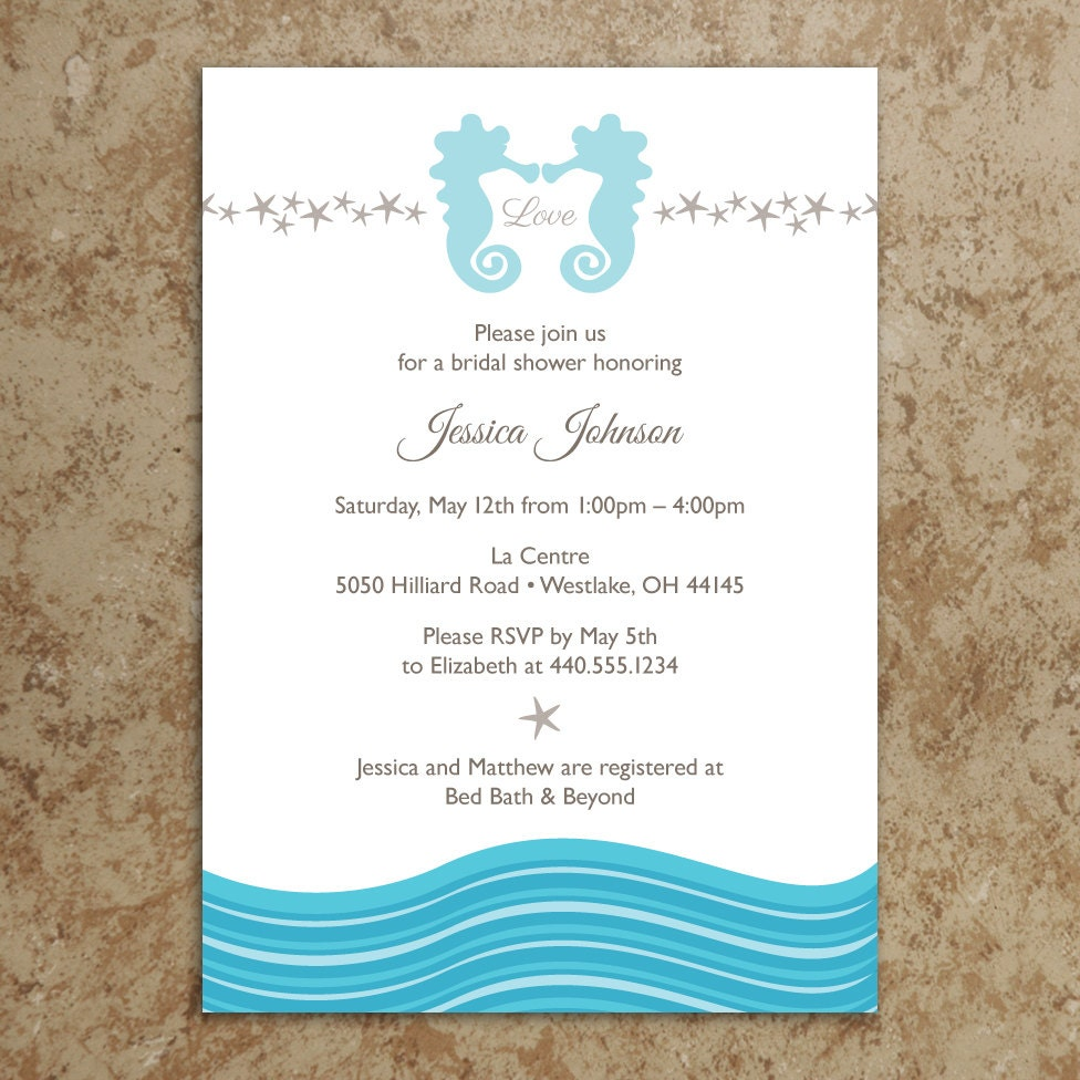 Beach Invitation DIY Printable PDF Beach Invite Beach
