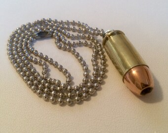 Custom .40 S&W Bullet Necklace - Keychain Pendant - Bullet Zipper Puller - ALL IN ONE! Very Handy! Handmade, One Of A Kind