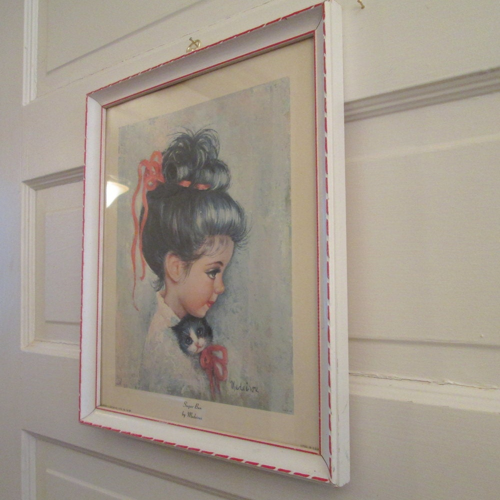 Vintage childrens art print sugar bun medeiros framed print sold by thebeadsource jeuxipadfo Image collections