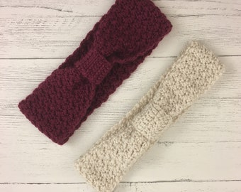 Ear Warmer Headband Handmade Crochet