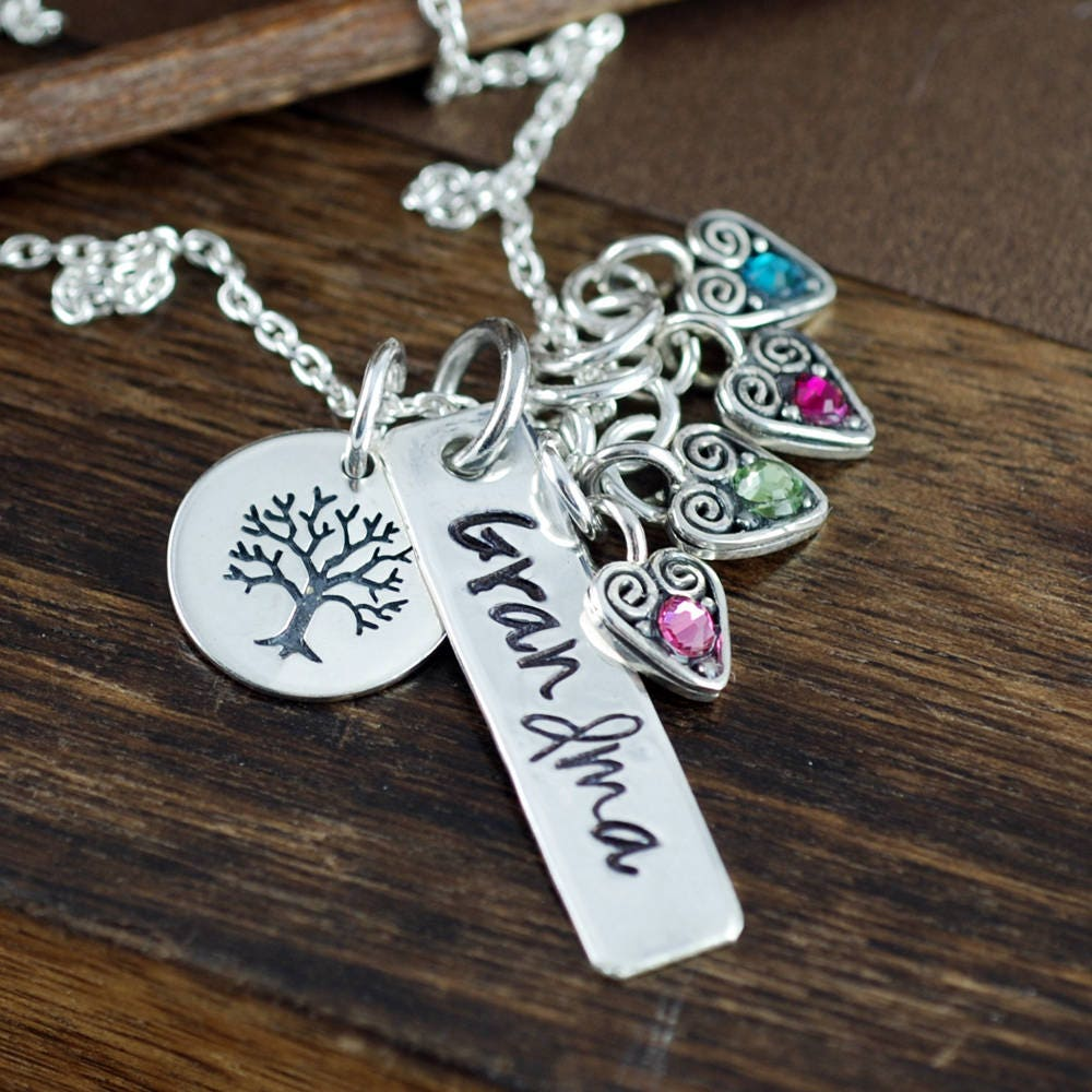 family tree necklace personalized grandma necklace mother s