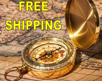 Compass, Engraved Compass, Personalized Compass, Valentines Day, Christmas Gift, Anniversary Gift, Fathers Day, Mothers Day, Groomsmen Gift