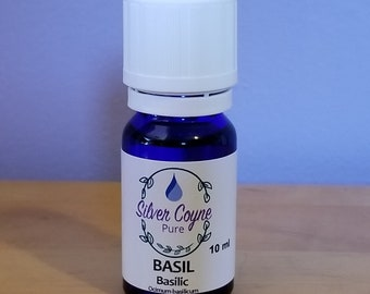 10 ml Organic Sweet Basil Essential Oil