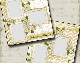 THE WEDDING - Seven - 2 Premade Scrapbook Pages - EZ Layout 663
