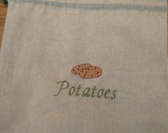 Natural fibre vegetable bags