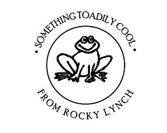 Something Toadily Cool Frog  Toad Custom Rubber Stamp