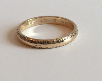 1940's 14K yellow gold band