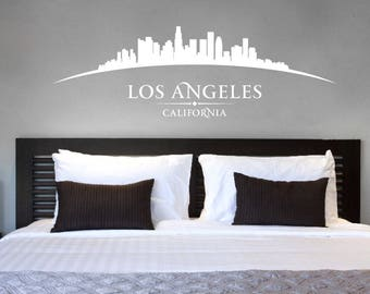 WD101146 | Los Angeles California USA City Skyline - Bedroom Living Room Wall Art Sticker