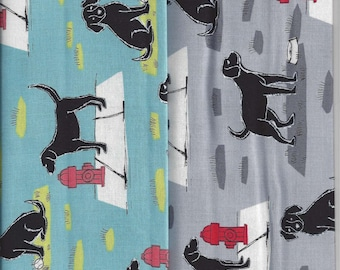 Mr Peabody at the Park I Spy Black Labrador Retriever Dog Fabric By Fat Quarter