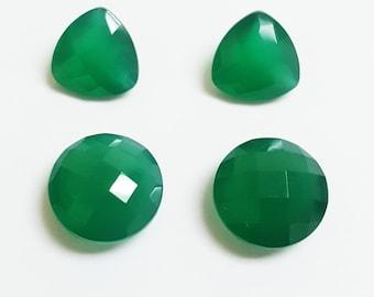 Green Agate round briolete, round briolete, Green Agate round, Green Agate briolete, agate trillian, Green Agate Trillian