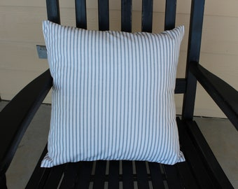 """Ticking Stripe Pillow Cover, 18"""""""