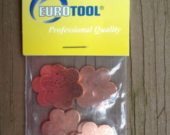 SIX FLOWER Quantity 6 Smaller Copper shapes for enameling