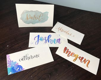 Handmade Calligraphy Place Cards | Weddings, Parties, Events