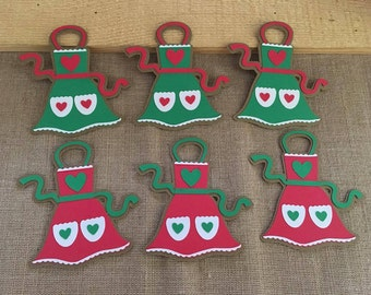 Apron Die Cut set of 6, Holiday Apron, Apron Gift Tags