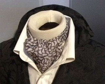 Pure Cotton - Grey Dove - DAY Cravat Victorian Ascot Tie Cravat