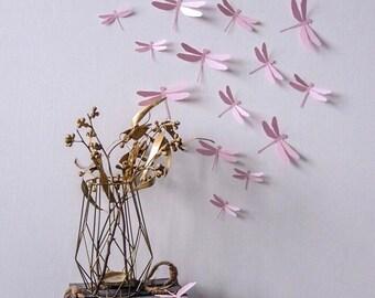 Dragonflies 3D Wall decor-  50 pieces - wall decoration/ baby shower decoration / nursery decor/ nursery/ wall decor