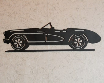 1957 Chevy Corvette metal art