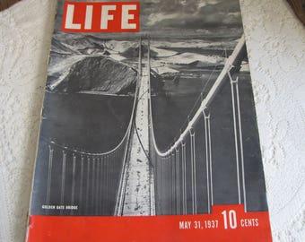 Life Magazines 1937 May 31 Golden Gate Bridge Vintage Magazines and Advertising