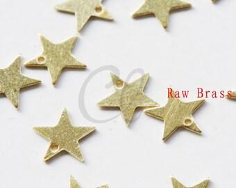 200 Pieces Raw Brass Star Charm - 7mm (2030C-P-343)