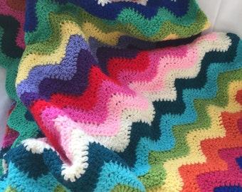 Crochet Zigzag Blanket
