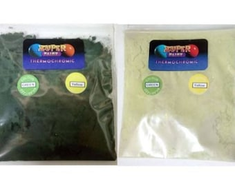 Thermochromic Temperature Colour Changing Powder 31c Green to Yellow