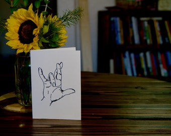 Sign Language Love Card