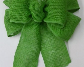Lime Green Burlap Bow