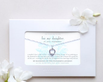 Daughter | Engagement Wedding Gift | Bride Bridal Shower Gift from Mom Bridal Party Custom Customized Personalized Message Card Jewelry