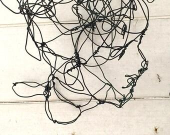 Wire Sculpture - 3d sculpture - Wire Three-dimensional Sculpture - Original Design Art - Knotted Wire - Wall Hanging Art