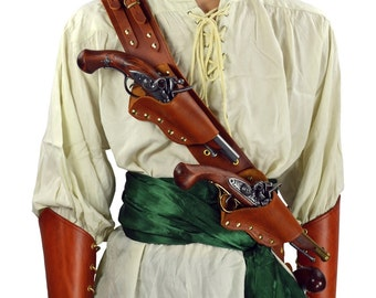 Pirate's Triple Threat Pistol Baldric - Gun Holster - #DK2036
