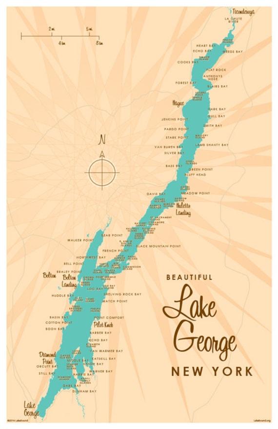 Lake George NY Map Print