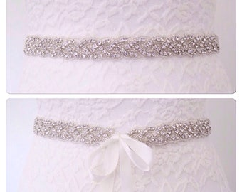 Bridal sash, bridal belt, wedding belt, wedding dress belt,All around bridal belt ,all around wedding belt