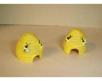 Fairy Garden Resin Bee Hives/ Set of 2/Minis/Supplies*