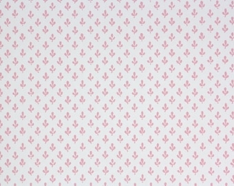 1970s Vintage Wallpaper - Laura Ashely Pink and White Floral Chintz
