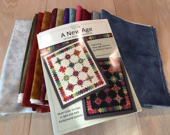 """Nancy Rink Designs--A New Age--- 13 part block of the month  (finished quilt size is 82"""" x 98"""")"""