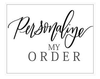 Personalize My Order | Add On