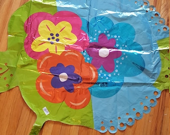 Flower Foil Mylar Balloon  CLEARANCE
