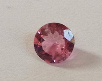ON SALE! Beautiful Pink Tourmaline, Natural Genuine Tourmaline Round, Pink Tourmaline Solitaire, Pink Tourmaline Round, October Birthstone