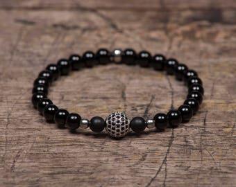 Silver Pave - Black Onyx