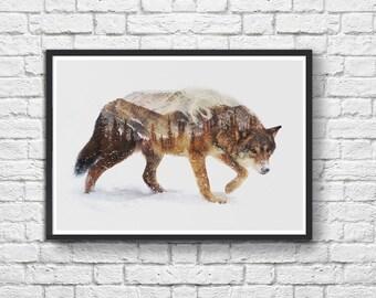 Art-Poster 50 x 70 cm - Winter Wolf