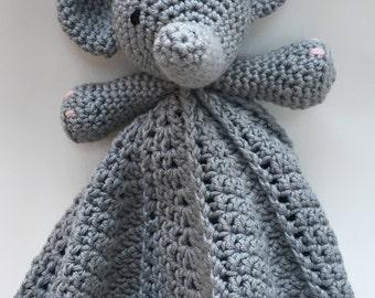 Elephant Baby Lovey Blanket